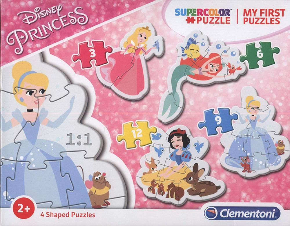 My First Disney Princess Puzzle Jigsaw 3/6/9/12 Pcs by Clementoni